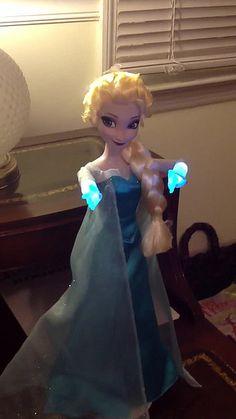 Disney store Frozen singing elsa doll