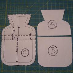 Rachael Rabbit: Tutorial: Simple Hot Water Bottle Cover #1