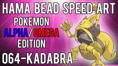 Hama Bead Speed Art   Pokemon   Alpha/Omega   Timelapse   064 - Kadabra