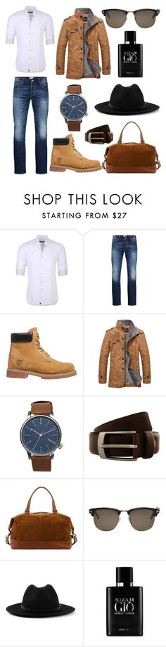 """g u y - X - t r a v e l"" by ammzi ❤ liked on Polyvore featuring Stone Rose, Jack & Jones, Timberland, Komono, Renato Balestra, Frye, Tom Ford, Topman, Giorgio Armani and men's fashion"