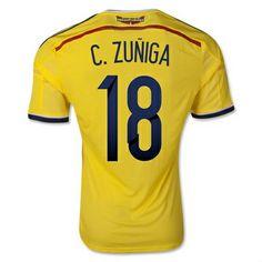 Colombia 2014 World Cup Adidas Football Shirt 18 C.Zuniga http://www.arhikultura.org/buy-colombia-2014-world-cup-adidas-football-shirt-18-c.zuniga-for-sale-p-1691.html
