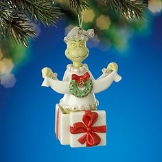 Lenox A Grinchy Gift Ornament Dr Suess The Grinch That Stole Christmas New Box | eBay