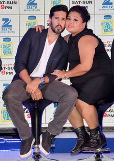 Dino Morea and Bharti Singh at the launch of the TV show 'I Can Do That'. #Bollywood #Fashion #Style #Handsome #Cute