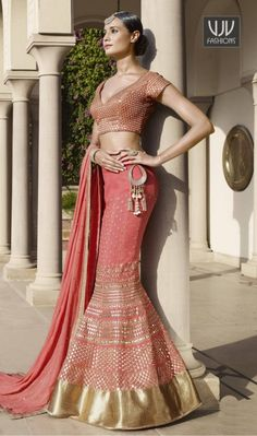 Magnificent Georgette Pink A Line Designer Lehenga Choli Everyone will admire you when you wear this clad to elegant affairs. Stand out from rest with this pink georgette a line lehenga choli. The embroidered and resham work looks chic and perfect for any occasion. Comes with matching choli and dupatta.