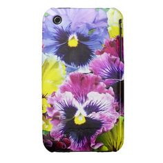 Assorted Pansies 3 Case-Mate iPhone 3 Case-Mate Case