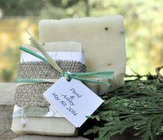 yellow silver and raffia bridal shower | Lavender Natural Soap Bar - Weddings - Tree Beginnings