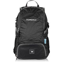 TOMSHOO 30L Ultra Lightweight Waterresistant Nylon Outdoor Backpack Travel Trekking Foldable Bag ** Read more reviews of the product by visiting the link on the image.