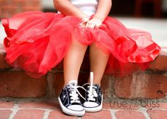 tutus with converse...I immediately thought of you and your girls when I saw this. @Felicia Deaton
