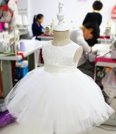 Ivory Tutu Flower Girl Dress Newborn Tutu Toddler Dress by PLdress