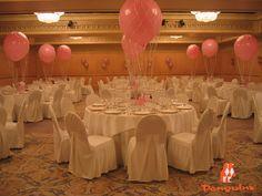 Globos gigantes para centros de mesa.
