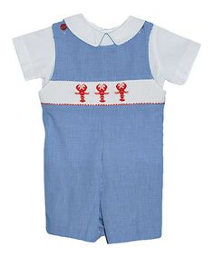 Look what I found on #zulily! Blue Gingham Lobster John Johns - Infant & Toddler by Vive La Fête #zulilyfinds