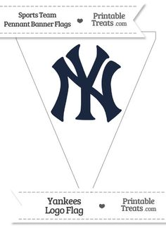 New York Yankees Pennant Banner Flag from PrintableTreats.com