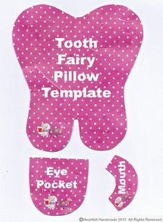 Resultado de imagen para tooth pattern for tooth fairy pillows Baby Sewing Projects, Sewing For Kids, Sewing Hacks, Sewing Crafts, Tooth Pillow, Tooth Fairy Pillow, Loose Tooth, Sewing Patterns, Origami Instructions