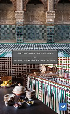 Vacation or staycation? $3,000 could score you a week in Casablanca or a Moroccan kitchen.