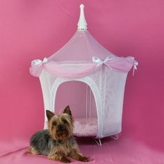 Pretty And Pink Pet Tent, $140, now featured on Fab.