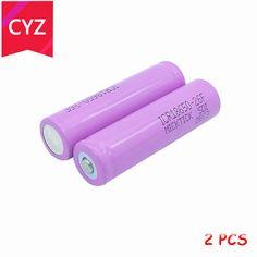 2PCS 3.7V 2600mAh 18650 BRC MICKTICK Battery batteries batteria lithium Li Ion Rechargeable Capacity Battery T6 Flashlight