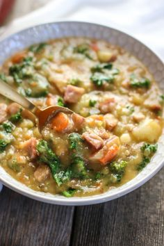 Creamy Ham and Potato Soup | The Real Food Dietitians | http://therealfoodrds.com/creamy-ham-potato-soup
