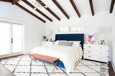 Kristen says she went to a ton of vintage shops and flea markets throughout the Los Angeles area to give the home that collected but eclectic look. Decor LA and the Rose Bowl Flea Market were two of her favorites.