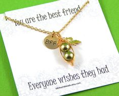 peas in a pod two peas in a pod Peapod Necklace by #Kikiburrabeads on #etsy#peasinapod#peapodnecklace#peapodjewelry#bestfriendgift#sistersnecklace#bff#friendshipnecklace www.kikiburrabeads.etsy.com @kikiburrabeads
