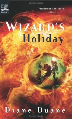 Wizard's Holiday: The Seventh Book in the Young Wizards Series by Diane Duane http://www.amazon.com/dp/0152052070/ref=cm_sw_r_pi_dp_NSQnub1ZRQDST