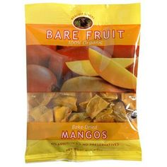 Bare Fruit 100% Organic Bake-Dried Mangos, 2.2 Ounce Bags (Pack of 12) $31.95