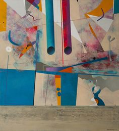 Landscape with Pipes II, , oil on canvas, 120x110 cm, 2015