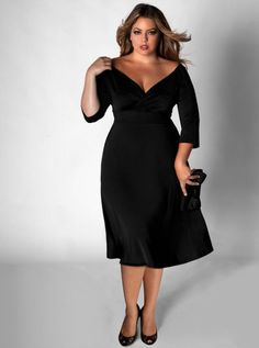 Look Sexy with a plus size little black dress