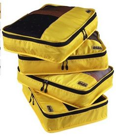 """Color : Yellow Available in One Pack and 4-Piece Value Set. Dimensions - 17.5"""" x 12.75"""" x 3.25"""" Sort and Find Your Stuff Quickly! Makes packing and unpacking efficient and less time consuming. Maximize luggage space. Protect your clothes from dirt, wrinkles and damages. No more stress and troubles at the airport. Maintain your privacy during security inspections. 100% Satisfaction Guaranteed"""