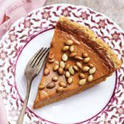 Pumpkin Pie with Salty Roasted Pepitas Recipe at Cooking.com