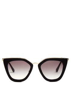 Cat-eye acetate sunglasses | Prada Eyewear