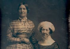 An 1848 photograph of Dolley Madison (seated) and her niece Anna Payne