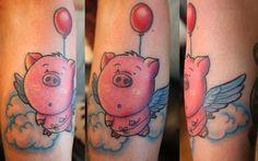 flying pig tattoos