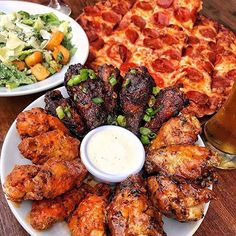 This is how you're suppose to celebrate Wing Wednesday right?  #tryitordiet : @dailyfoodfeed : @ranceschicagopizza TAG YOUR FRIENDS