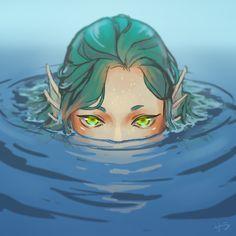 Peeking mermaid by xDream-Candy.deviantart.com on @DeviantArt