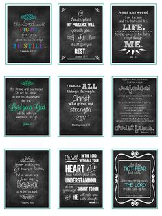 Sweet Blessings- more FREE printable verses. Great to give as gifts!