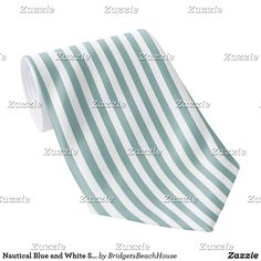 Shop Nautical Blue and White Striped Neck Tie created by BridgetsBeachHouse. Custom Ties, Neckties, Unique Image, Night Out, Nautical, Blue And White, Nice, Pattern, Prints
