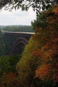 Longest arch bridge in the Western Hemisphere; New River Gorge, West Virginia.