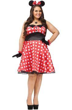 Retro Miss Mouse Plus Size Costume #Halloween #costumes