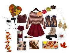 """""""Fall#2"""" by muslimahfashionista12 ❤ liked on Polyvore featuring Yves Saint Laurent, Valentino, Casetify, Bar III, Lancôme and Monster"""