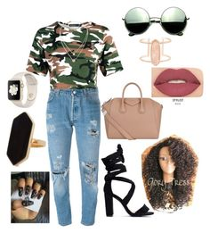 """Untitled #1"" by jaidentatum on Polyvore featuring Levi's, Givenchy, Revo, Kendra Scott, Smashbox, Jaeger and Michael Kors"