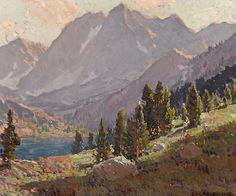 View at Sabrina Lake, Inyo County by Edgar Payne