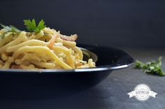 Delicious carbonara pasta. Food photography