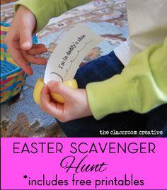 easter egg scavenger hunt activity for kids