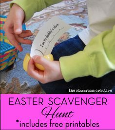 easter egg scavenger hunt activity for kids