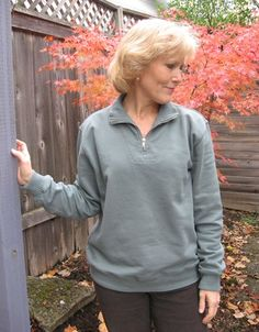 Cozy up in our 90% Cotton/10% Poly Pullover Top this fall. Soft fleece inside and flat knit on the outside. Made in USA. $56.00 #clothing #womensclothes #madeinusa via BuyDirectUSA.com Like - Share - Repin