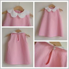 really nice little dress - it's an a-line dress with back closure and scalloped peter pan collar. The site is commercial but I know you can find tutorials (and free patterns) on Pinterest to build up the dress. Nice fabric choice, too!