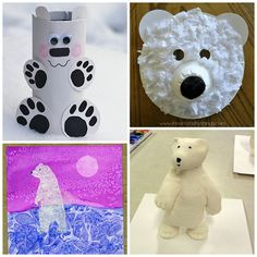 Here are a bunch of easy and creative polar bear crafts for kids to make! Find masks, toilet paper rolls, watercolor, clay, and more winter art projects! Thanksgiving Crafts For Kids, Winter Crafts For Kids, Crafts For Kids To Make, Holiday Crafts, Art For Kids, Kids Crafts, Winter Art Projects, Cool Art Projects, Projects For Kids