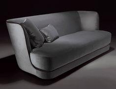 Nella Vetrina Royale Italian Sofa Upholstered in Grey