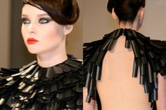 Jasper Garvida A/W 2011 plastic shoulder decorations