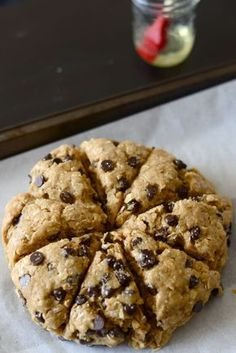 Oatmeal Peanut Butter Chocolate Chip Scones - Oooo, I love scones! Add chocolate and peanut butter and these are calling my name! - Use only Hershey chocolate products when making this, or any other dessert. Just Desserts, Delicious Desserts, Dessert Recipes, Yummy Food, Scone Recipes, Bread Recipes, Cookie Recipes, Spinach Recipes, Tofu Recipes